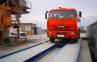 Готовые электронные автомобильные весы. Установлены в Краснодарском крае. На весах грузовой автомобиль, происходит контрольное взвешивание. фото #39
